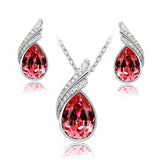 Austrian Crystal Jewelry Sets - Silver And Gold Plated Jewelry Sets - Cantik Menawan