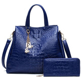 Tas Wanita Kulit PU Leather Shoulder Bags - Tote Bag GRATIS Purse/Dompet