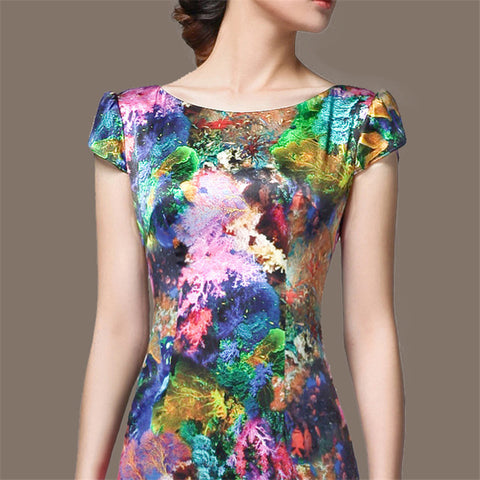 Dress Wanita Cantik & Menawan - Sleeveless Vintage High-end Floral High Quality Dress