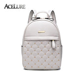 Backpack Wanita Casual Cantik -  High Quality Shoulder Bag PU Leather - Cantik Menawan