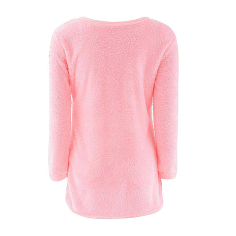 Fashion Baru Sweater Wanita Cantik Long Sleeve Soft Smooth Warm - Cantik Menawan