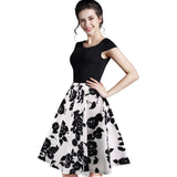 Summer Dress Wanita Cantik - Floral Casual Stylish Elegant Print O Neck Sleeveless - Cantik Menawan