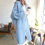 Cardigan Cantik -  Coat Loose Sweater Women Casual Batwing Sleeve Warm Knit - Cantik Menawan