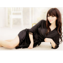 Bathrobes+G-string Thongs  Lingerie Nightdres - Cantik Menawan
