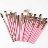 Kuas Makeup Kecantikan 20Pcs Professional Makeup Brushes Set Powder Foundation Eye shadow Make Up Brushes - Cantik Menawan