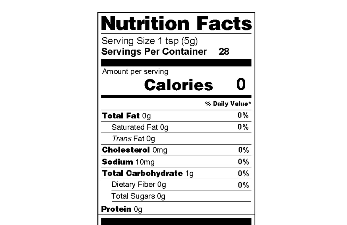 Hot Sauce Nutrition Information, Low Sodium