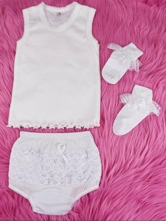 Kids White Undergarments