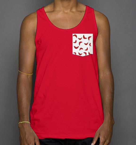 Sickle Pocket Tank Red