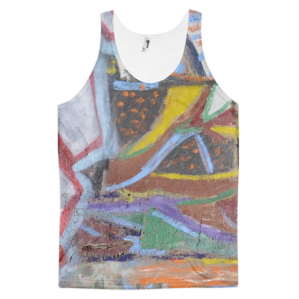 retro abstract - Classic fit tank top
