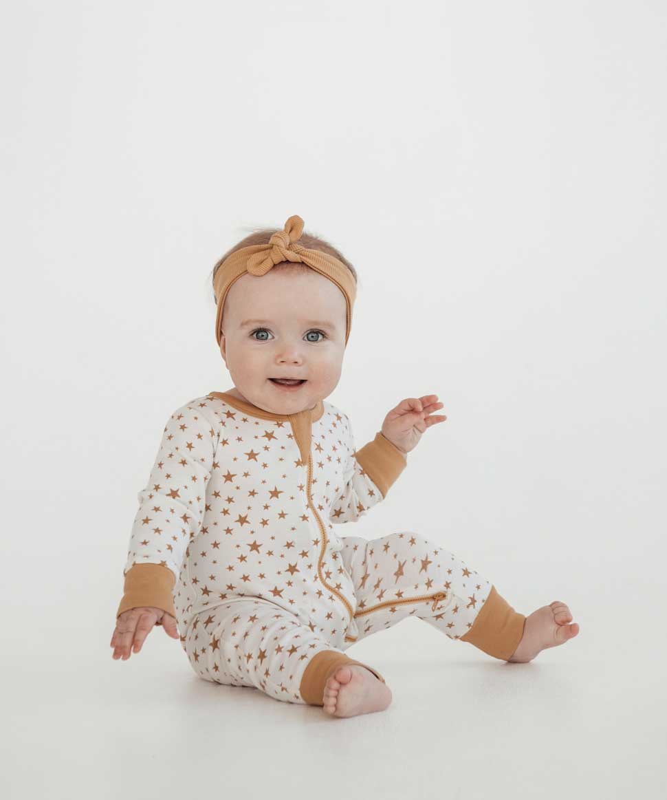 Taffy Star Zip Romper Aster & Oak Baby Preggi Central Maternity Shop