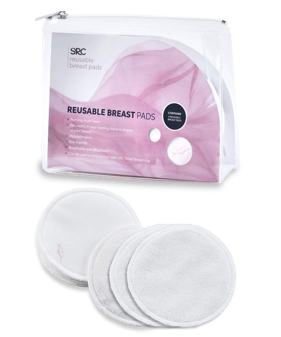 SRC Reusable Bamboo Breast Pads - 8 Pack SRC Lingerie 9350310007024 Preggi Central Maternity Shop
