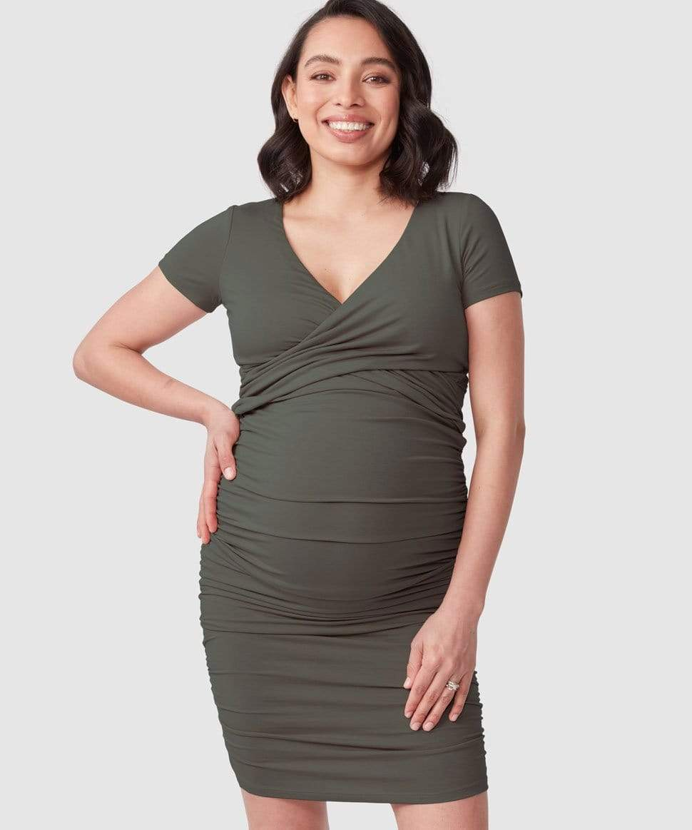 Bailey Crossover Nursing Dress Pea in a Pod Maternity and Nursing Preggi Central Maternity Shop