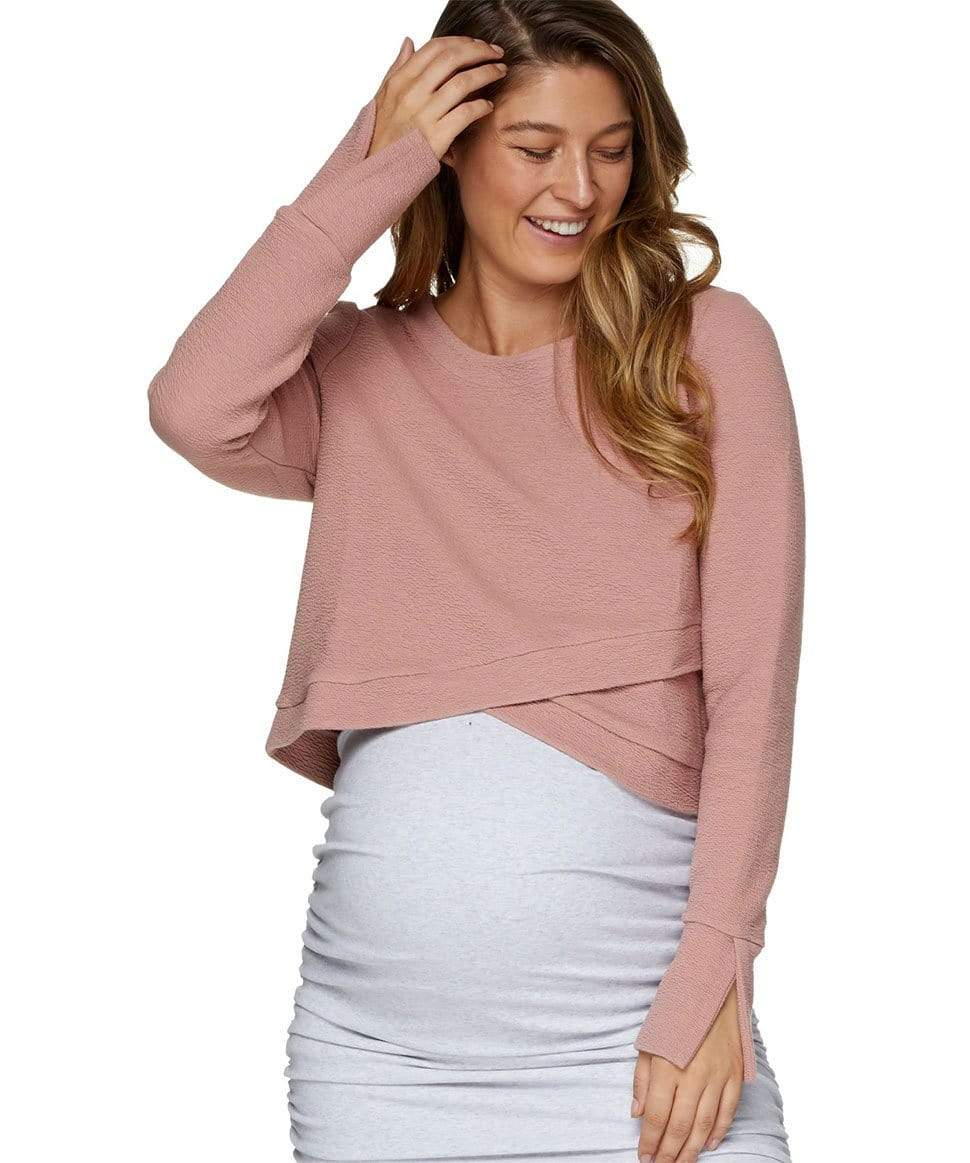 Cross Your Heart Crop Top BAE the label Maternity and Nursing Preggi Central Maternity Shop