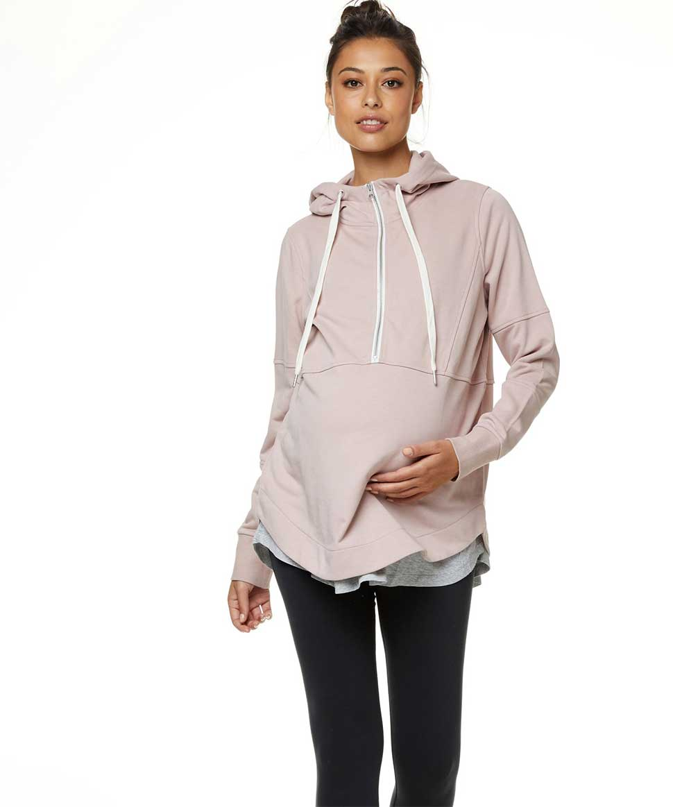 Run With Me Hoodie BAE the label Maternity and Nursing Preggi Central Maternity Shop