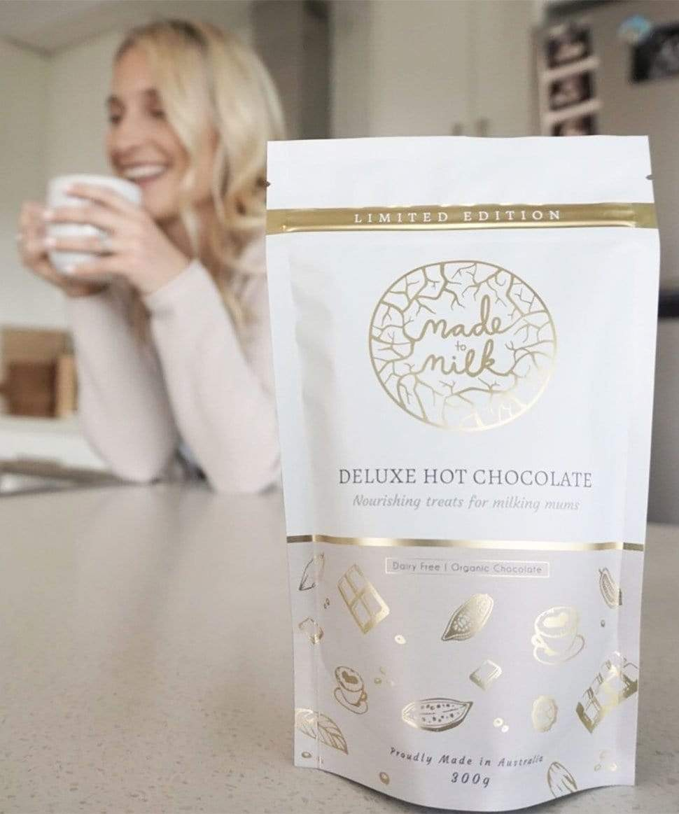 Deluxe Lactation Hot Chocolate Made to Milk Tea and Bikkies Preggi Central Maternity Shop