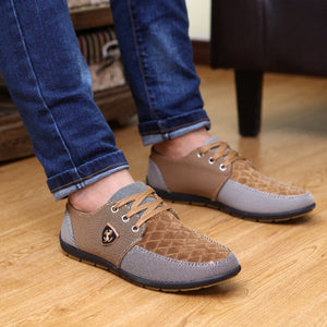 2017 mens Casual Shoes mens canvas shoes for men shoes men fashion Flats Leather brand fashion suede Zapatos de hombre