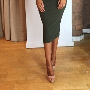 2017 autumn and winter new women's lotus leaf collar solid color slim fashion sexy strapless split hip hip dress