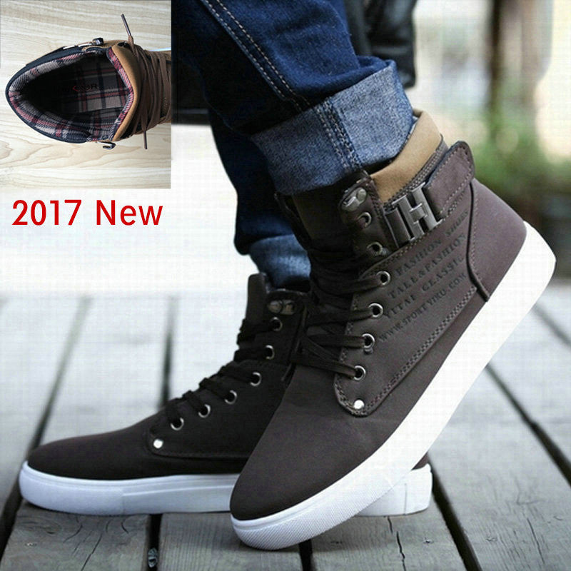DEKABR 2017 Hot Men Shoes Fashion Warm Fur Winter Men Boots Autumn Leather Footwear For Man New High Top Canvas Casual Shoes Men