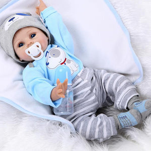 "22""silicone reborn baby dolls,Lifelike Baby Doll Toddler Toys for Children bonecas baby alive"