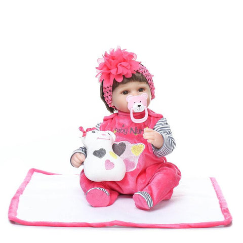 18 Inch Soft Silicone Reborn Dolls Realistic Newborn Baby Girl For Sale Lifelike Baby Alive Dolls Kids Playmate