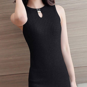 Women Knitting Dress 2017 Summer Mini Sexy
