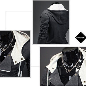 Men Sweatshirts Casual Male Hooded Jackets Zipper Male Hoodie