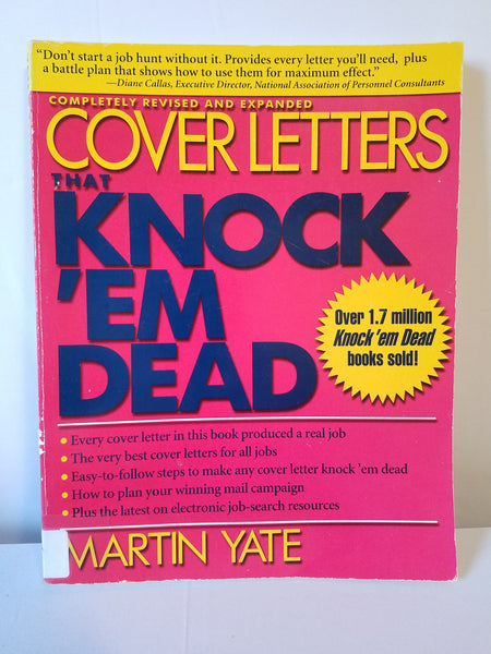 Cover Letters that Knock 'Em Dead - Martin Yate