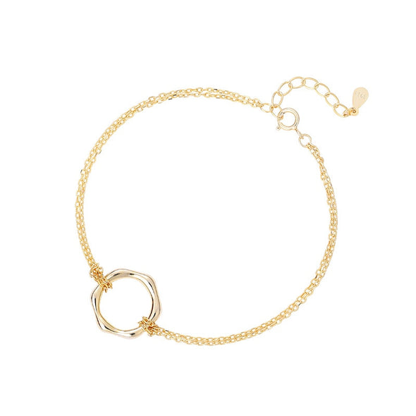 Circle Up Gold Plated Sterling Silver Bracelet