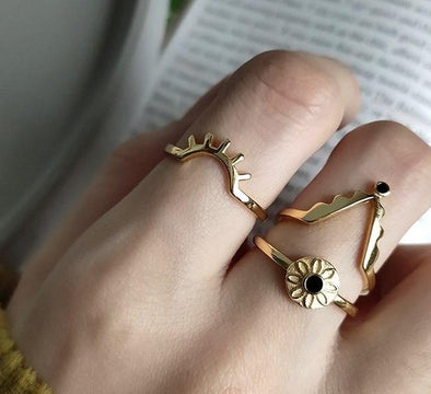 Posey Shine Gold Plated Sterling Silver Rings