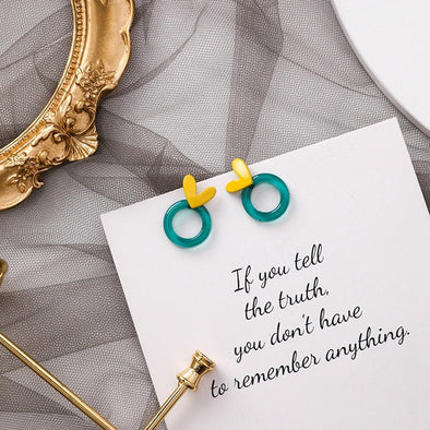 You've Got a Ring Around My Heart Earrings