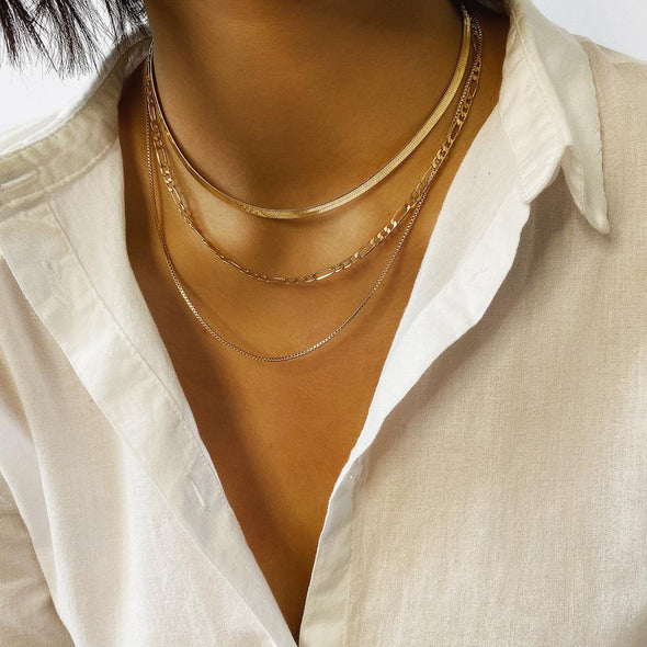 All Chained Up Layered Necklace