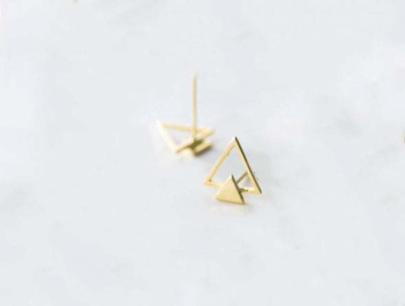 Geometric Perfection Sterling Silver Earrings