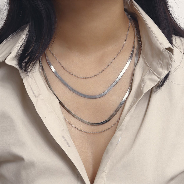 The Storm Will Pass Layered Necklace