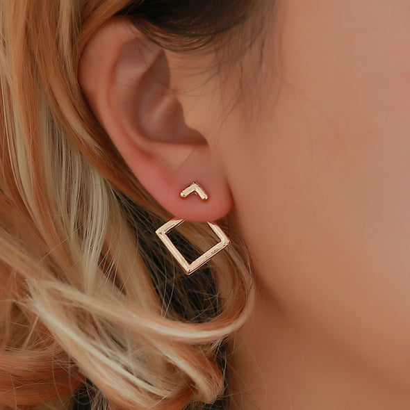 Square Peg in a Round Hole Earrings