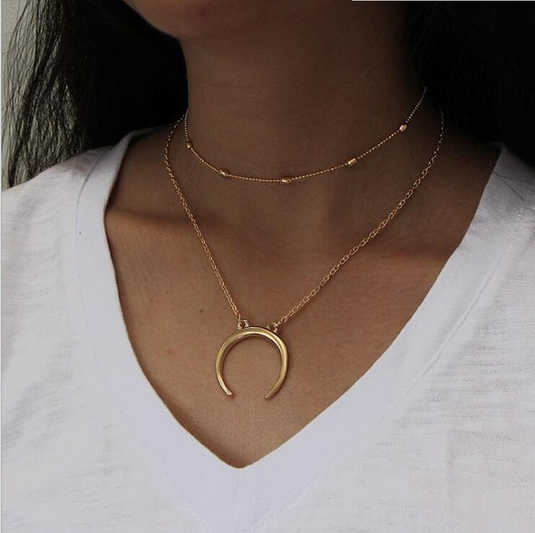 Chloe Cade Crescent Necklace