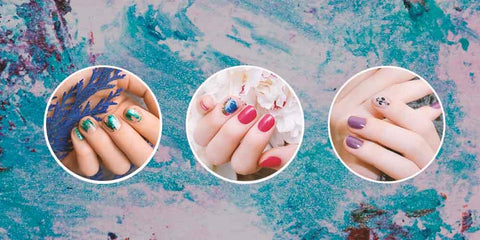 Contrasting Color nail Art Design