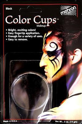 Mehron Black Foundation Cream Face Paint 0.5 oz Costume Stage Theatrical makeup