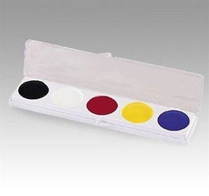 Mehron 5 Color Slim Palette w/ Yellow ~ Auguste Tramp Clown Makup Kit 405