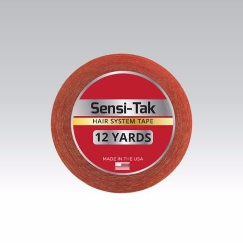 "Walker Sensi-Tak Tape (Red Tape) 1"" X 12 Yard Roll for Poly Units Wigs Toupee"