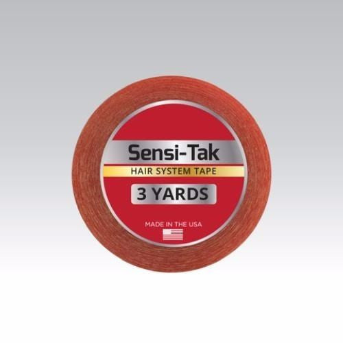 "Walker Sensi-Tak Tape (Red Tape) 3/4"" X 3 Yard Roll for Poly Units Wigs Toupee"