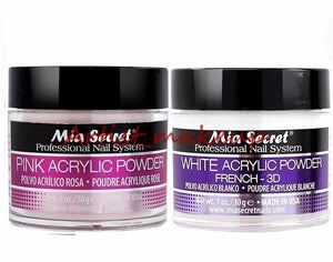 Mia Secret Acrylic Nail Powder Pink + White Professional Nail System Size: 1 oz