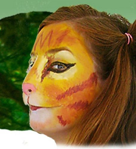 Halloween Stage Theatrical Costume Latex Prosthetic Face Nose Cat Kitty Mask