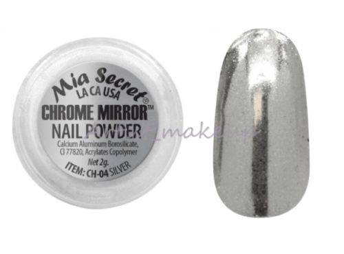 Mia Secret Chrome Mirror Nail Powder Glass Finish New 8 Colors Free Applicator