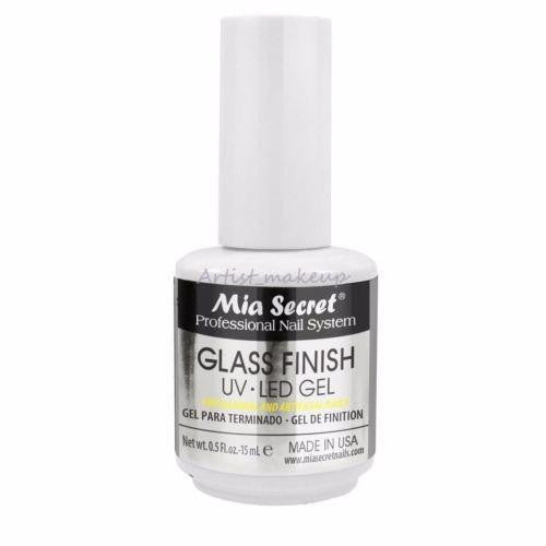 Mia Secret Glass Finish UV LED Gel Natural & Artificial Nails 1/2 oz Made in USA