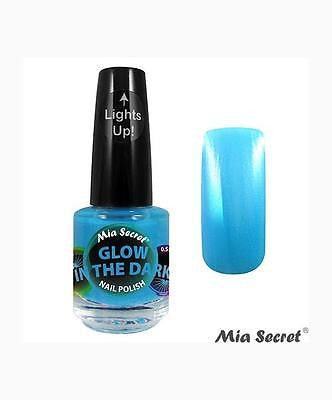 MIA SECRET GLOW IN THE DARK NAIL POLISH LACQUER ~ SET OF FOUR ~ MADE IN USA