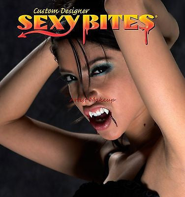 SEXY BITES CUSTOM WOMENS SIZE VAMPIRE FANGS TEETH NEW