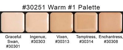 Graftobian HD Glamour Crème Foundations Palette, Warm #1