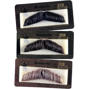 HUMAN HAIR COSTUME GENT MOUSTACHE 2011 w/ SIX TOPSTICK ADHESIVE STRIPS