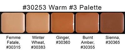 Graftobian HD Glamour Crème Foundations Palette, Warm #3