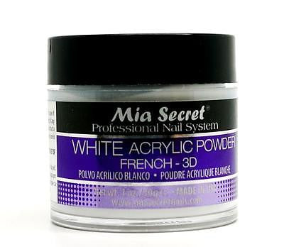 Mia Secret 3D White Acrylic Nail Powder Professional Nail System - Made in USA